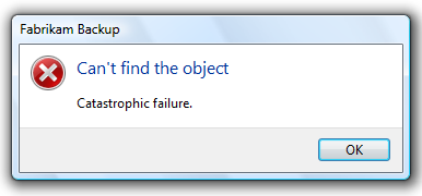 ambigious error message