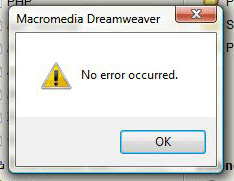 short error message