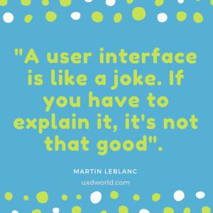 user interface is like a joke