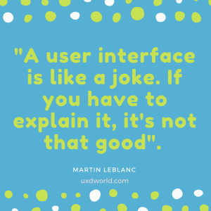 user interface is like a joke