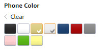amazon Color icons