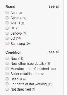 ebay see all option
