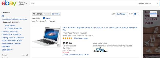 ebay search saved
