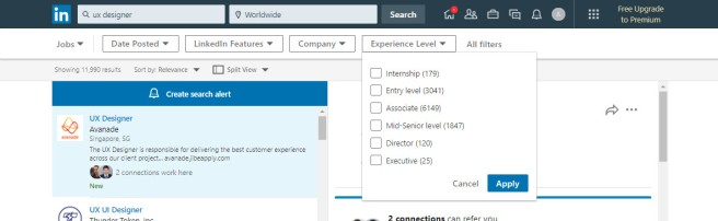 linkedin Checkbox