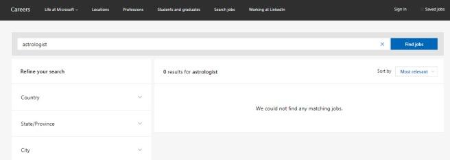 microsoft no result found