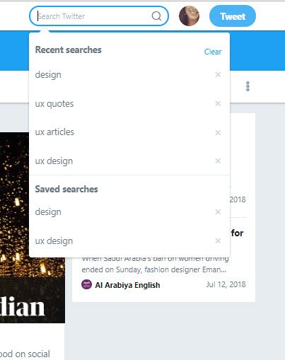 twitter save search