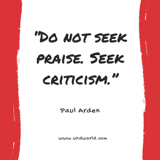 seek criticism quote