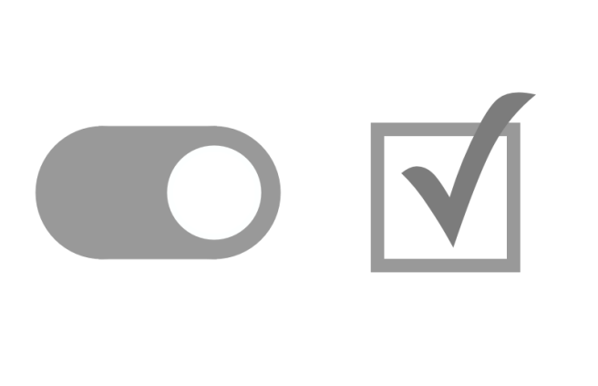 Checkbox vs Toggle switch