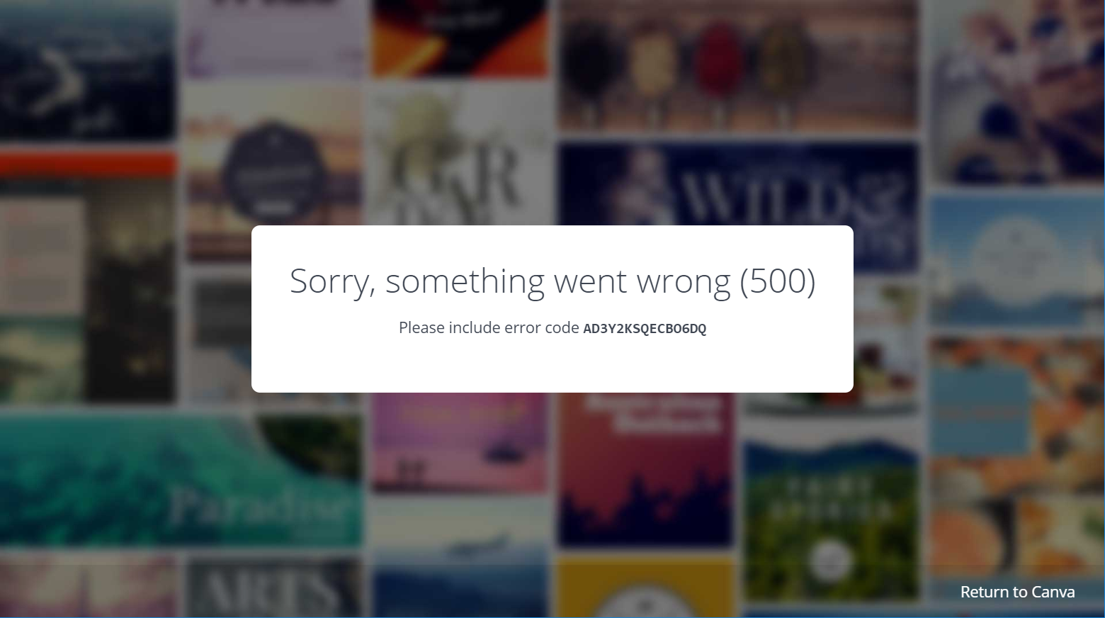 canva error page