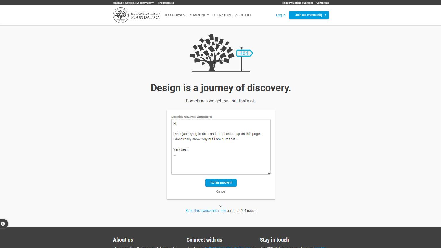 idf error page