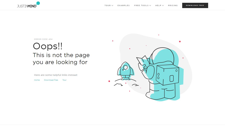 justinmind error page