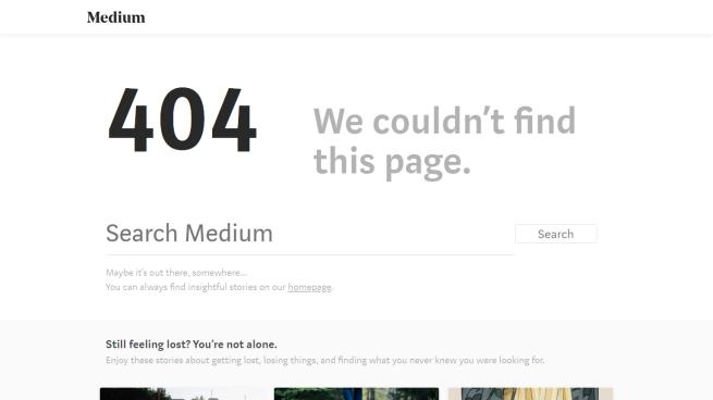 medium error page