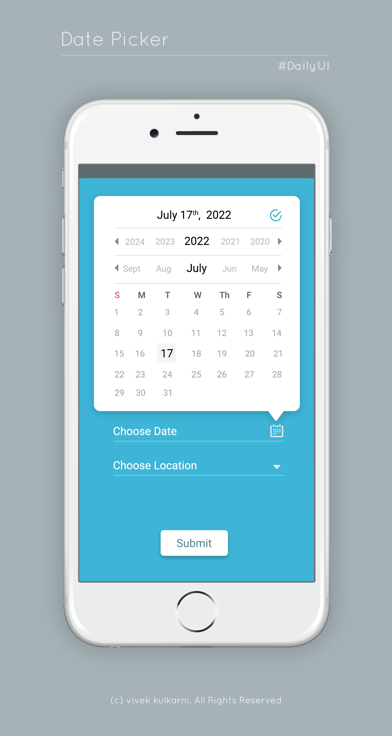 mobile date picker